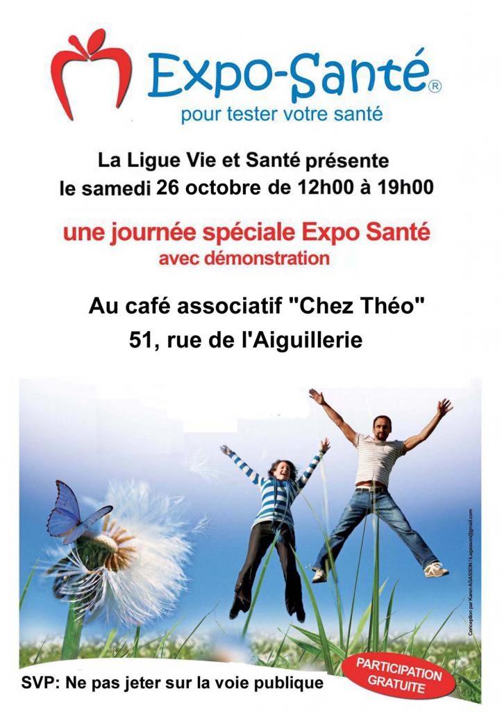 Affichettes Expo-Sante Montpellier Oct. 2019